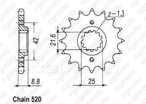 Pignon Klx 250 S9F 09-