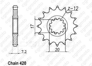 Pignon Minarelli 50 99-07 415