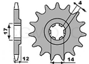 Pignon RS4 125