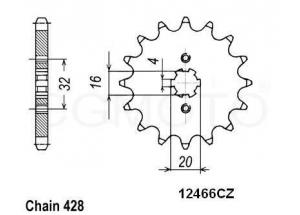 Pignon Yamaha Yzf 125 R 08-