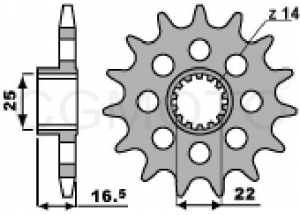 Pignon Ducati Multistrada 1200
