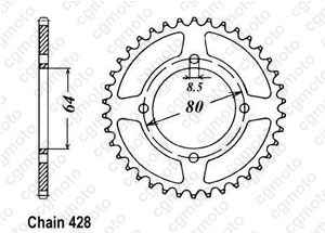 Couronne Rs 125 Dx 76-84