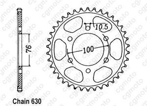 Couronne Gsx 750 E 80-82