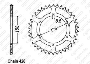 Couronne Dr125 Alu