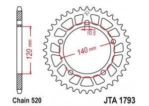 Couronne Racing Alu Gsx-R 600/750 01-04