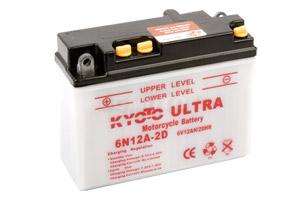 batterie 6N12A-2D L 156mm W 57mm H 116mm