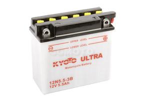 batterie 12N5.5-3B L 138mm W 61mm H 131mm