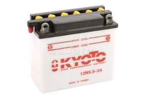 batterie 12N5.5-3A L 138mm W 61mm H 131mm