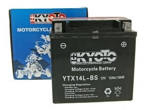 batterie YTX14L-BS L 150mm W 87mm H 147mm