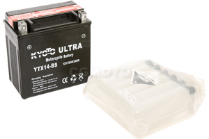 batterie YTX14-BS L 150mm W 87mm H 147mm