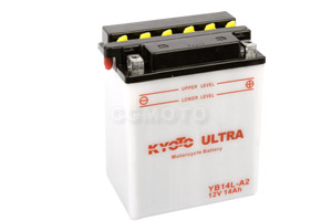 batterie YB14L-A2 L 135mm W 91mm H 167mm