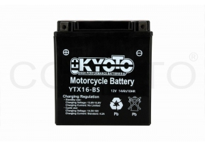 batterie YTX16-BS L 150mm W 87mm H 161mm