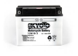 batterie 12N18-3 L 206mm W 92mm H 164mm