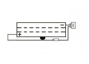 batterie 6N2A-2C L 70mm W 47mm H 106mm
