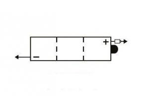 batterie 6N4-2A-7 L 71mm W 71mm H 96mm