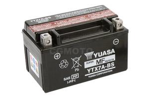 batterie YTX7A-BS L 150mm W 87mm H 94mm