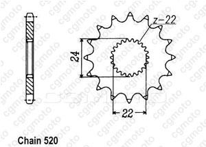Kit chaine Aprilia 125 Etx