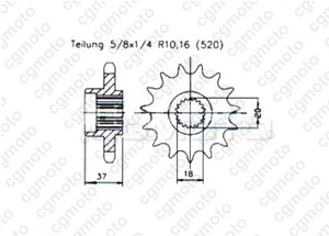 Kit chaine Aeon 125/180 Cobra