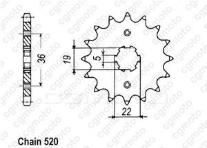 Kit chaine Axr 300 Sp / Adly 300