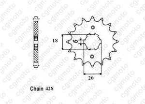 Kit chaine Barossa/Axr/Smc 50/100