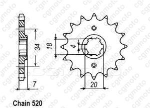 Kit chaine Barossa/Triton/Smc 170