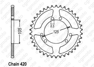 Kit chaine Bultaco 50 Sm Astro