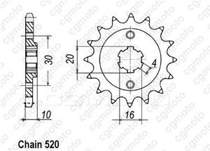 Kit chaine Cagiva 125 Mito Evolution
