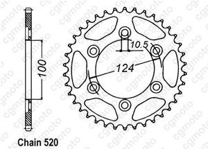 Kit chaine Ducati 620 Monster ie