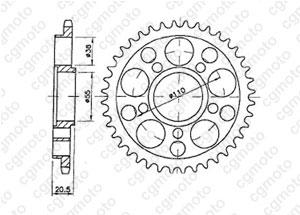 Kit chaine Ducati 748 R