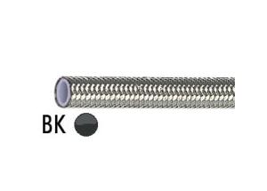 Rouleau de Durite Tressée Inox 5 Mètres Gaine Noire