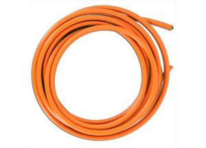 Rouleau de Durite Tressée Inox 5 Mètres Gaine Orange