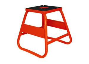 Lève Moto Cross orange avec platine supérieur en caoutchouc ( charge maximum 300 kg)
